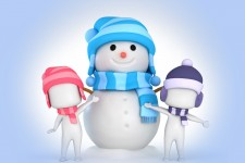 Cute Snowman Vector Art