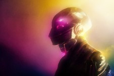 Daft Punk Helmet Colorful Artwork